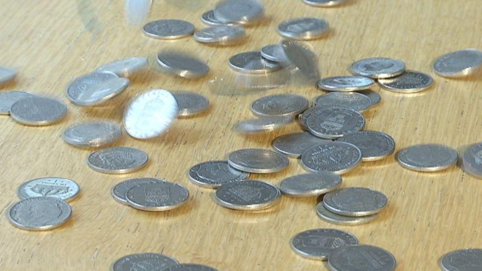 växla in gamla mynt
