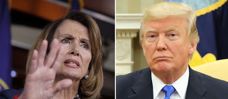 Nancy Pelosi och Donald Trump