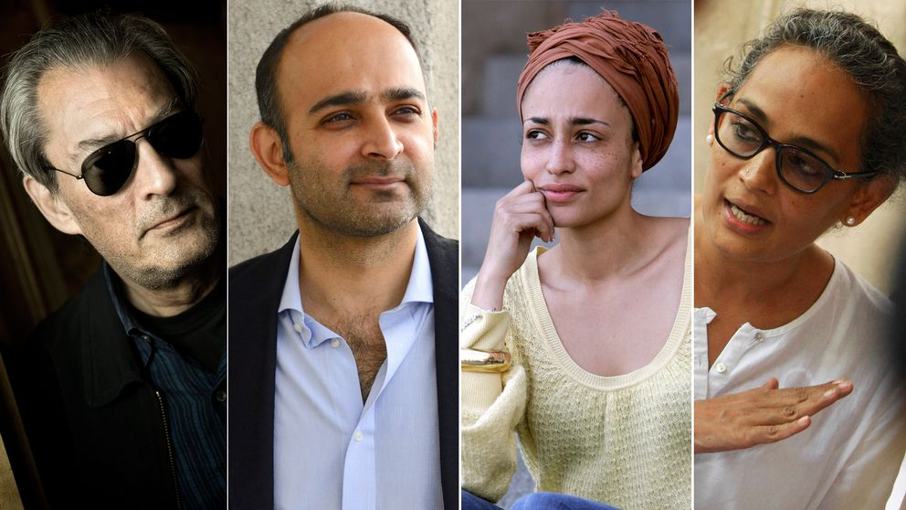 Paul Auster, Mohsin Hamid, Zadie Smith och Arundhati Roy.