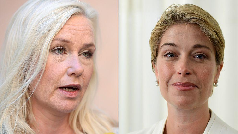 Anna Johansson (S) och Annika Strandhäll (S).
