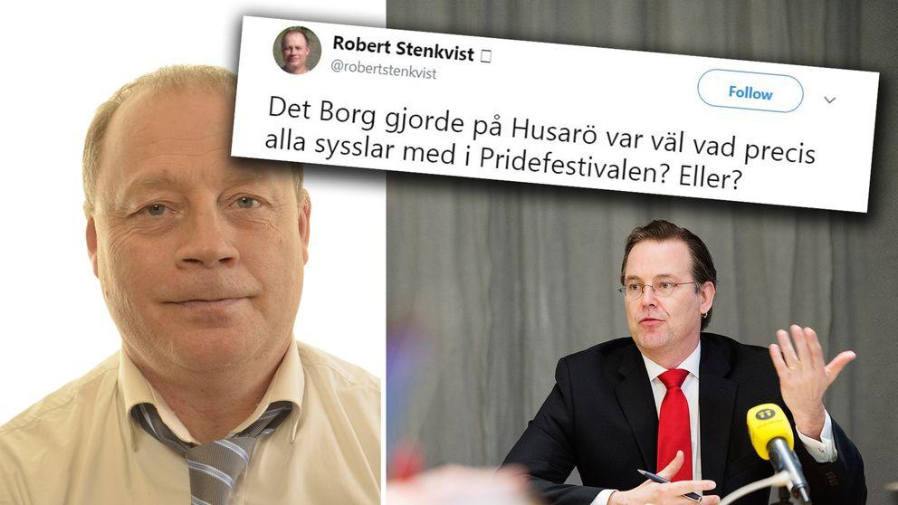 Robert Stenkvist (SD) och Anders Borg.