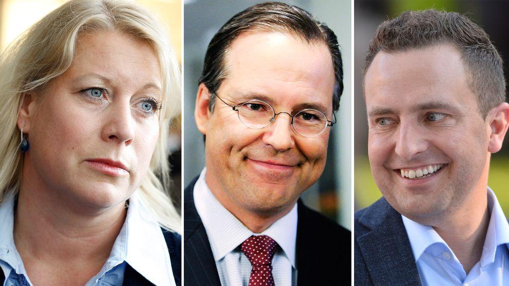 Catharina Elmsäter Svärd, Anders Borg, Tomas Tobé.