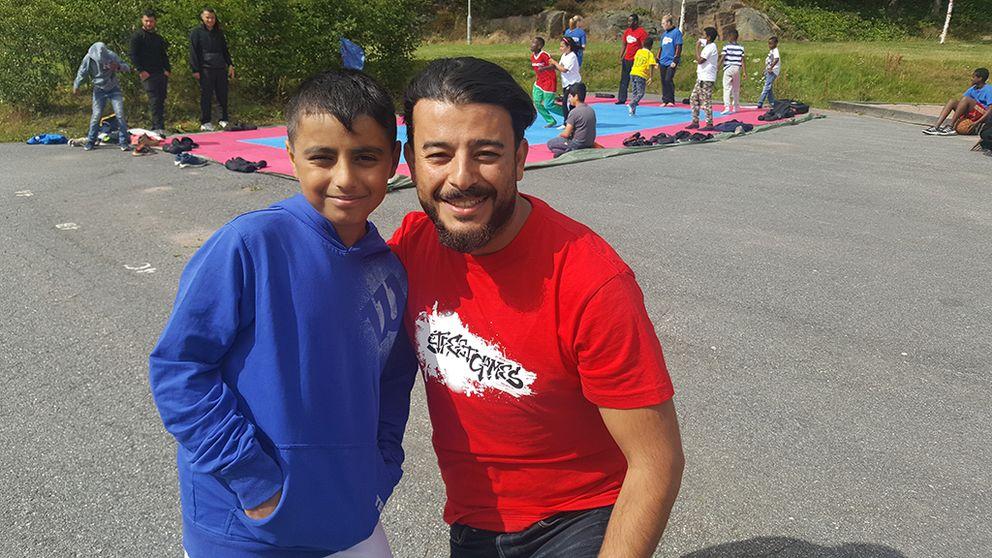 Aymen Ali och Amir Kader från Street games.