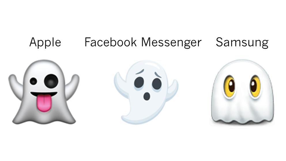 Tre tolkningar av ordet spöke.