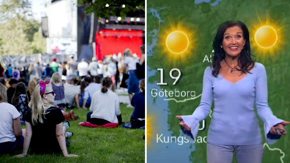 SVT:s meteorolog ger dig festivalprognosen.