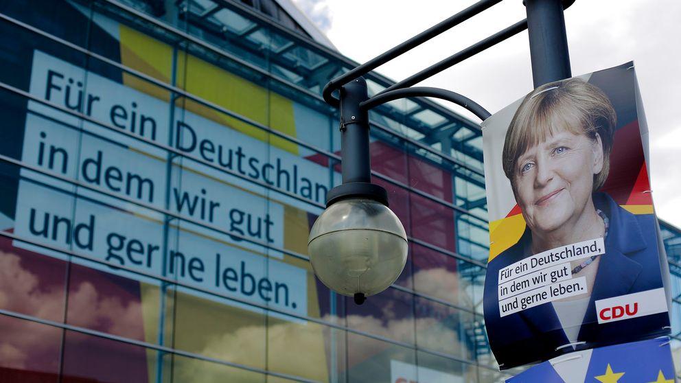 """""""För ett Tyskland där vi lever bra och gärna"""" är CDU:s valslogan."""