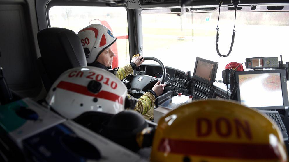 brandman, brandbil, brandhjälm