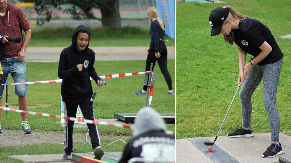 Leonard Nordlund och Alva Öhman, Umeå Bangolfklubb, blev båda medaljörer under veckans ungdoms.SM i bangolf.