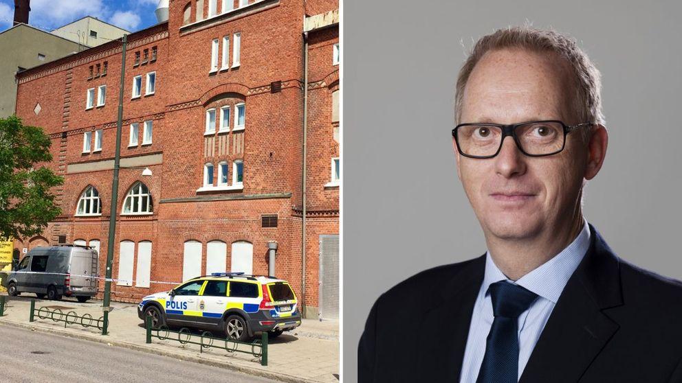 Förvaltningsdirektör Johan Hermansson fick beskedet om skottlossningen på söndagsmorgonen.