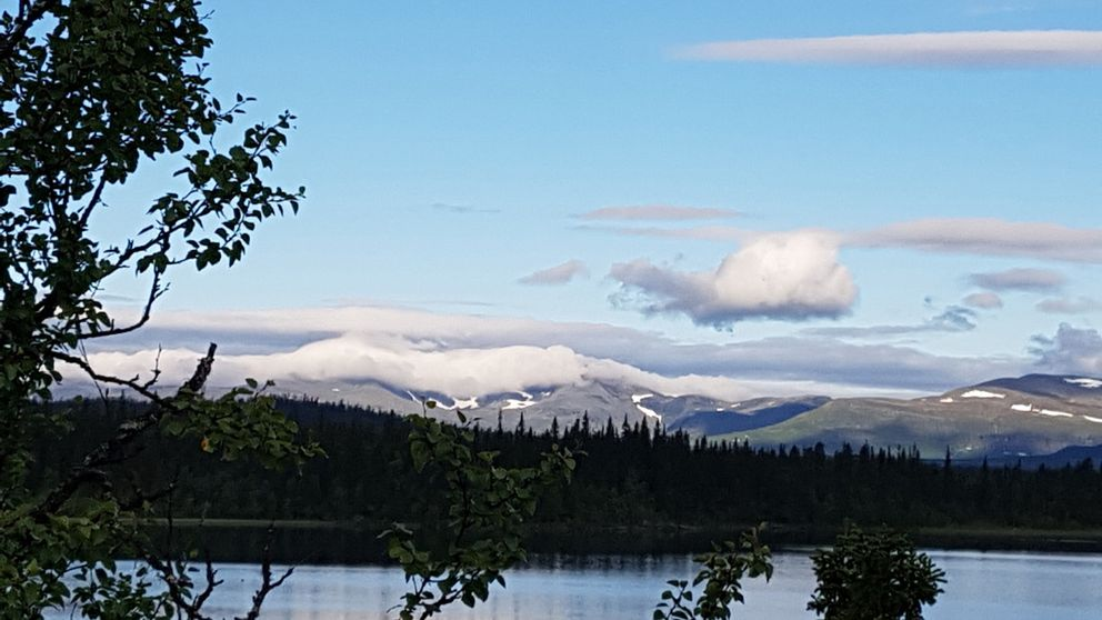 Vackra moln över Marsfjällen, södra Lappland 13 augusti