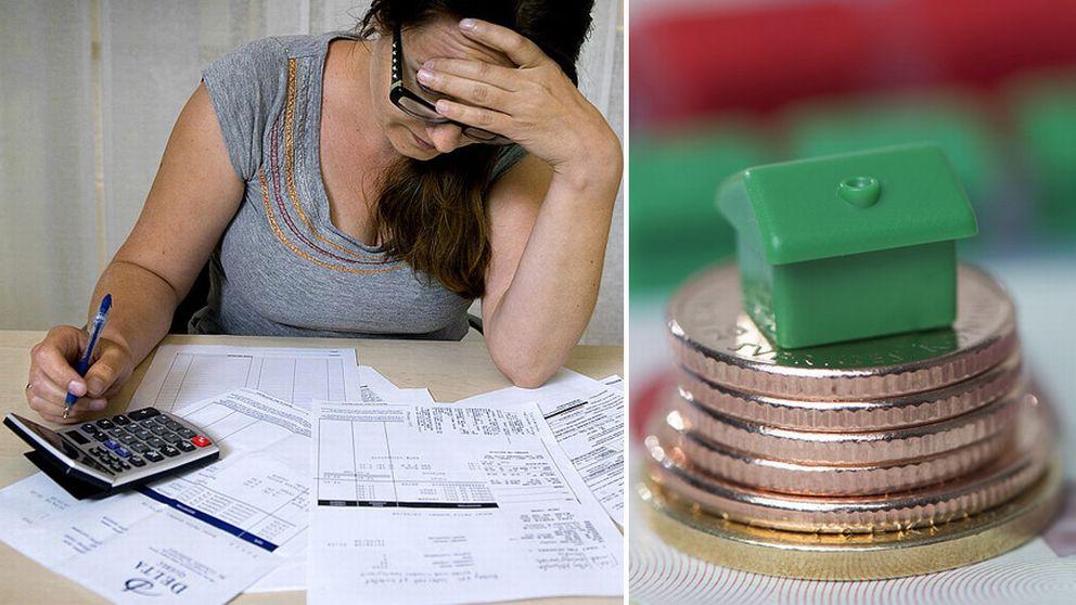 Även om relativt liten andel av hallänningarna har skulder, är de som har skulder ordentligt skuldsatta.