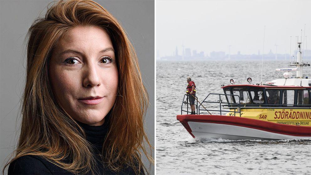Till vänster porträtt av journalisten Kim Wall. Till höger en bild på Sjöräddningen i Malmö.