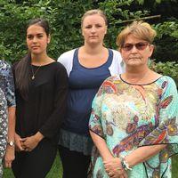 Josefine Ekvall, Tina Nilsson, Kerstin Persson, Felicia Fischlein, Jeanette Antoniusson och Vivi Löfgren jobbar på neurologi – och strokeavdelning 7 på lasarettet i Ystad.