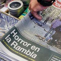 Spanska tidningar efdter terrordådet i Barcelona