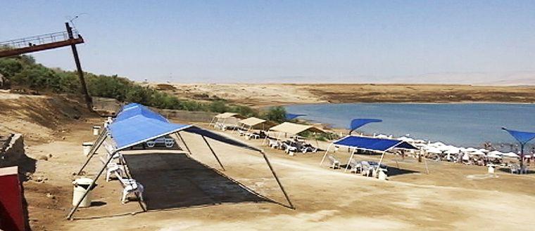 Badplats vid Döda havet.