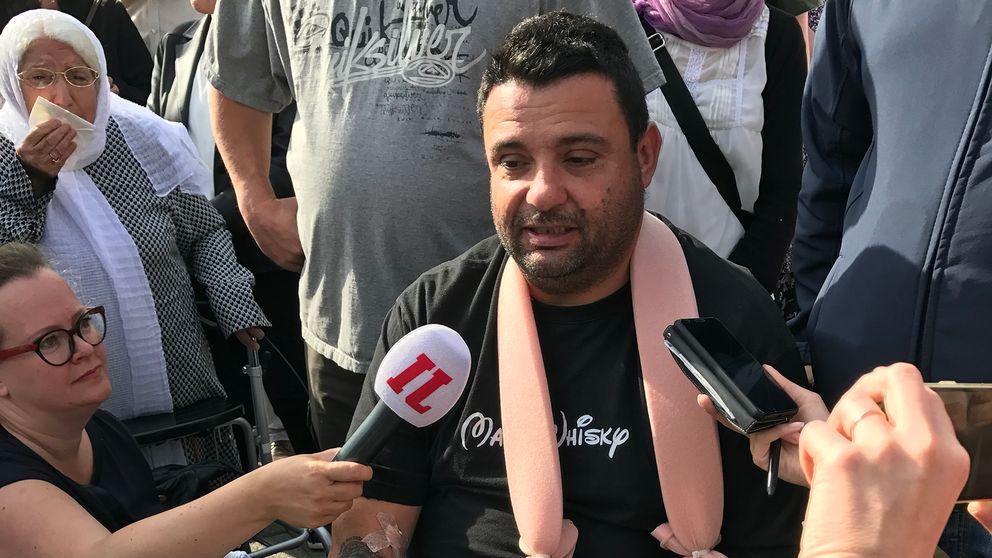 Hassan Zubier är tillbaka på torget där attacken skedde.