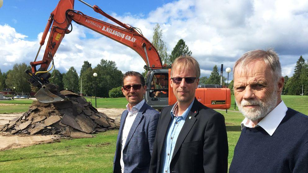 Idag började arbetet med att bygga hyreslägenheter i Munkfors