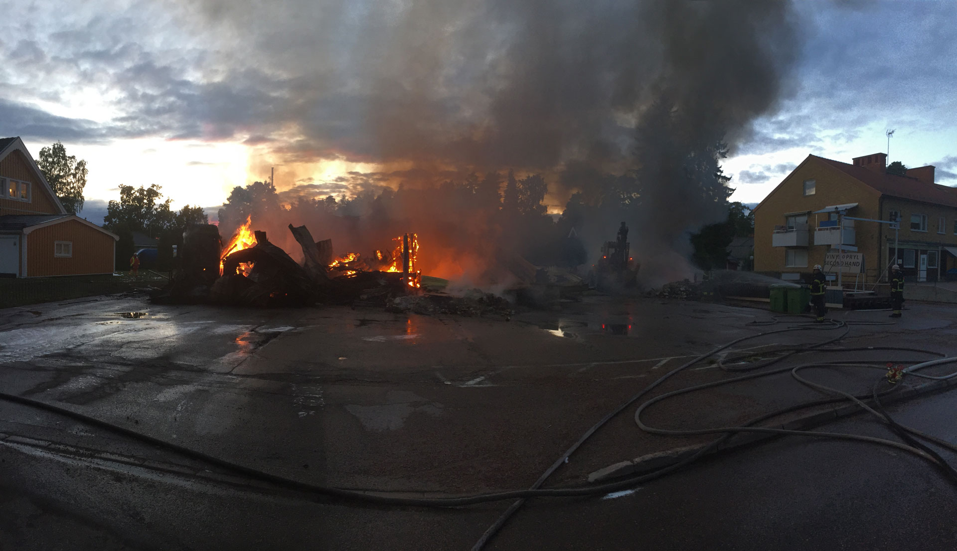 Restaurangbrand i oregrund
