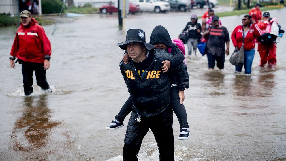Houston under vatten efter ovader