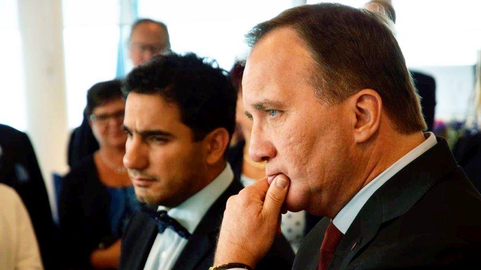 Civilminister Ardalan Shekarabi (S) och statsminister Stefan Löfven (S)