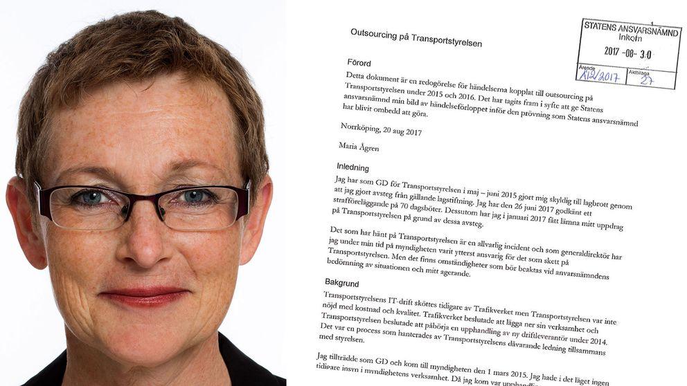 Maria Ågren, före detta generaldirektör för Transportstyrelsen.