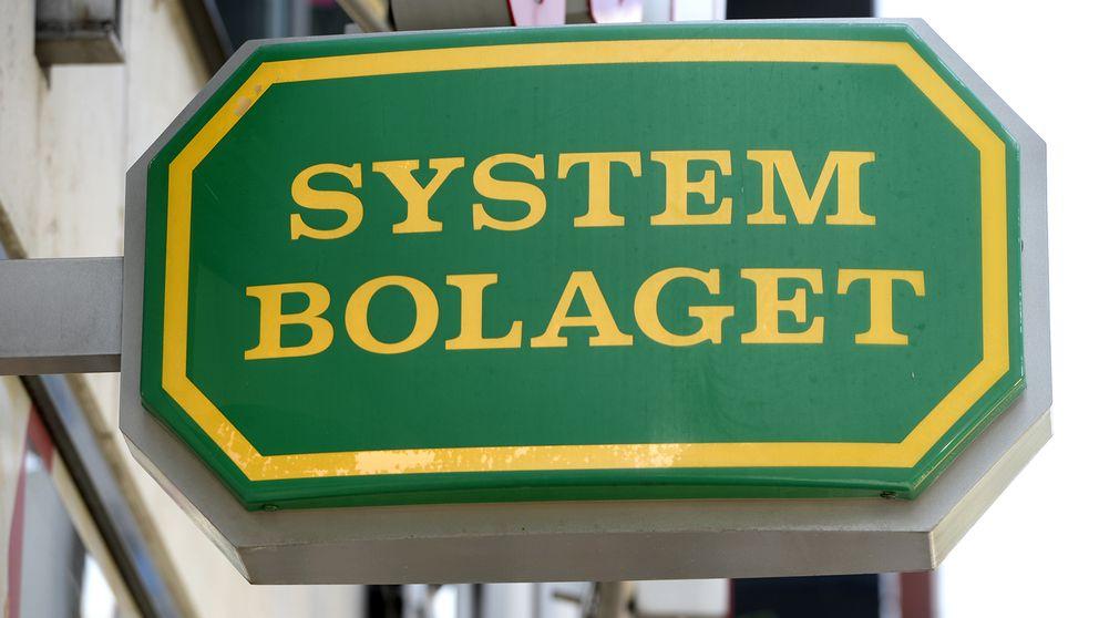En av Systembolagets skyltar.