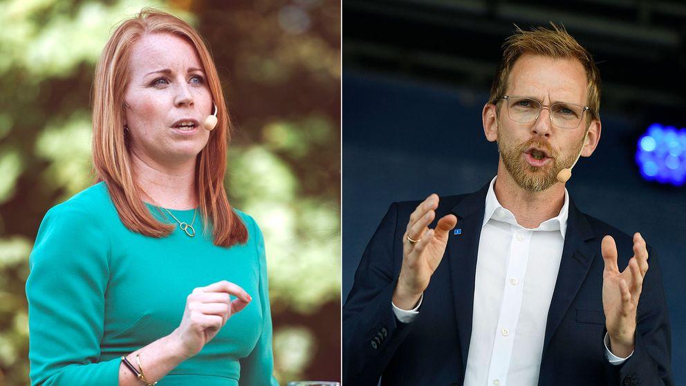 Annie Lööf (C) och Jacob Forssmed (KD) sågar förslaget om vinsttak i välfärden