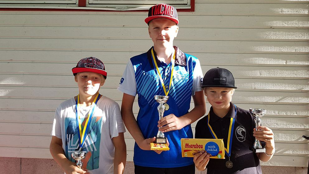 Elias Rangsjö, Viggo Hellöre och Noah Rangsjö