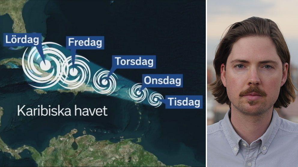 SVT:s Latinamerikakorrespondent Tigran Feiler: Så drar orkanen Irma fram