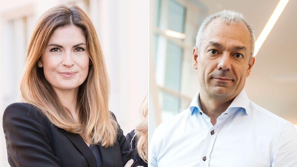 Privatekonomerna Emma Persson (SBAB) och Arturo Arques (Swedbank).