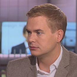 Gustav Fridolin (MP) i SVT:s Morgonstudion.