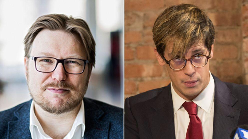 Spelforskaren Jonas Linderoth och högerprovokatören Milo Yiannopoulos.
