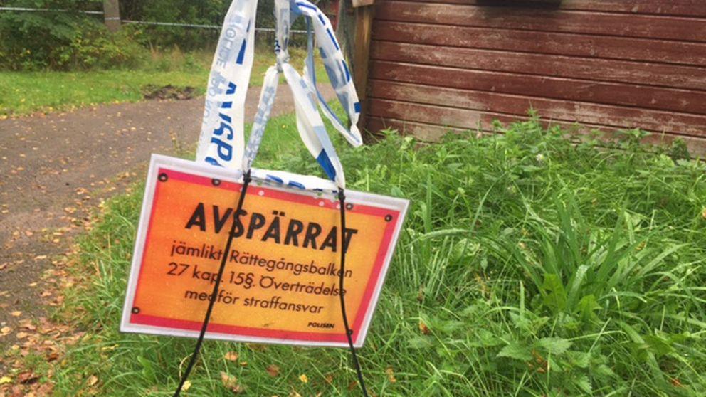 Misstänkt knivmord i Rydöbruk.