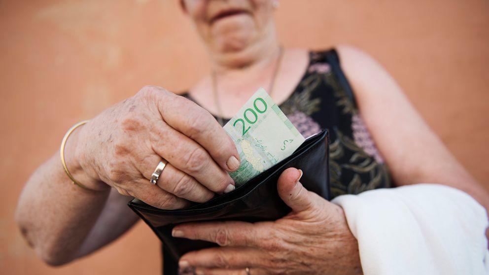 pensionär med låg inkomst