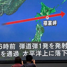 Nordkorea avfyrade ny robot över Japan
