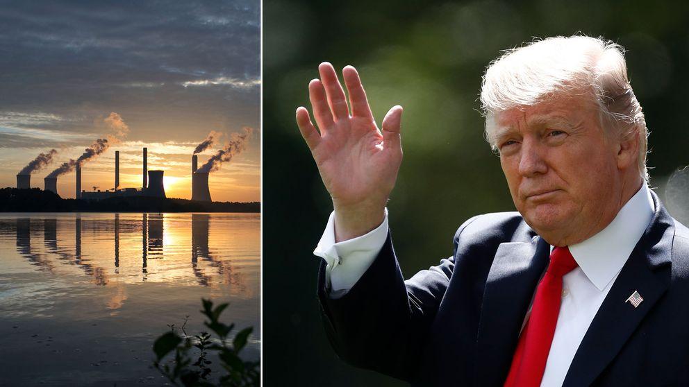 Ett kolverk i amerikanska Georgia samt Donald Trump.