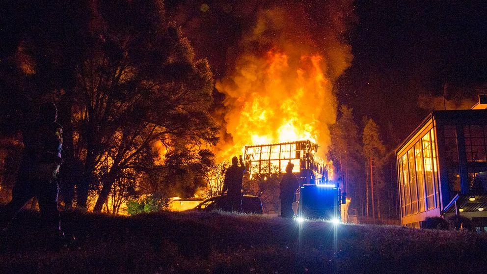 Brand i klubblokal i Fagersta