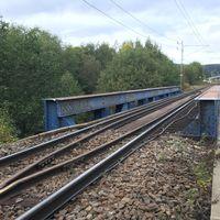 Olyckan inträffade på den här järnvägsbron över Selångersån i Västra Sundsvall. De två personerna befann sig på själva bron och hade ingen chans att komma undan när tåget kom