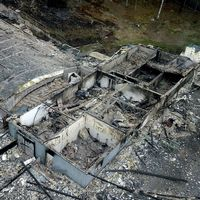 Beautytown Cruisers lokal totalförstördes i branden.