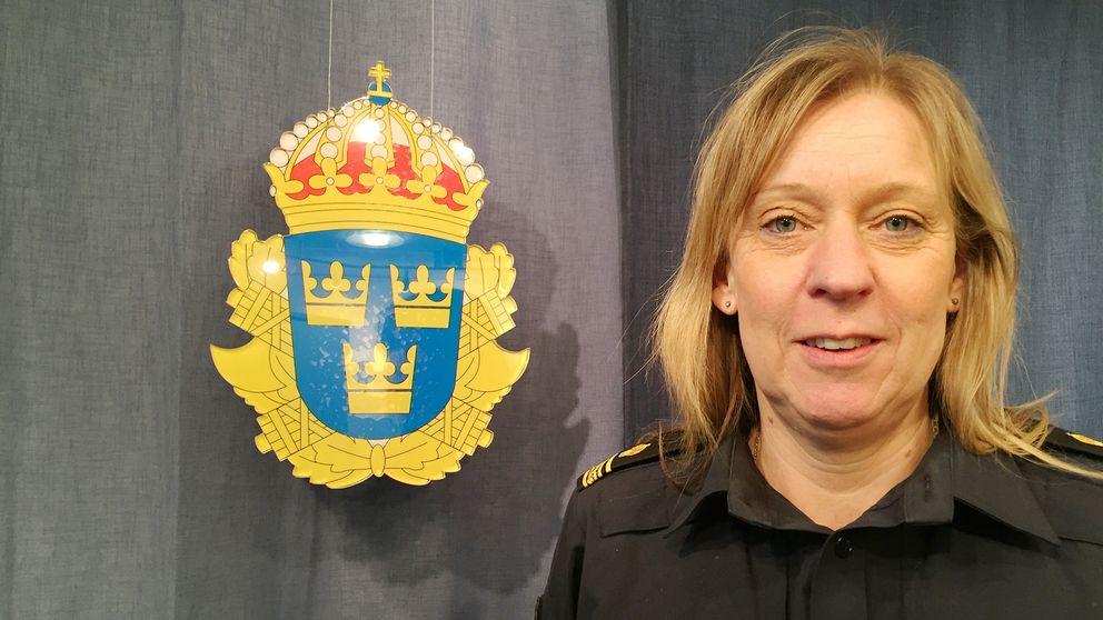 Lisa Sannervik är presstalesperson på Uppsalapolisen.