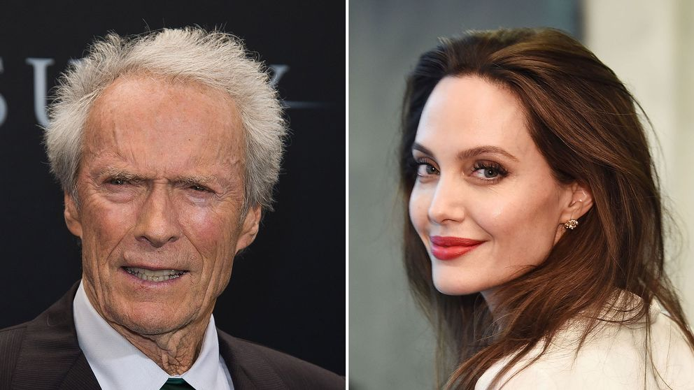 Clint Eastwood och Angelina Jolie, två skådisar som båda har tackat sina mammor efter statyett-vinster.