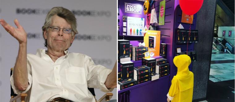 På den lilla bokbutiken vid T-centralen i Stockholm var det glada miner när skräckgiganten Stephen King fick nys om deras marknadsföring.