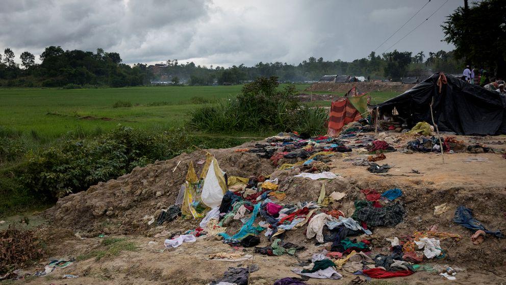 De tillfälliga lägren är en humanitär katastrof.