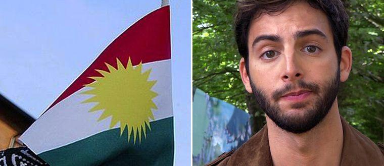 Kurdiska flaggan och Darin Zanyar