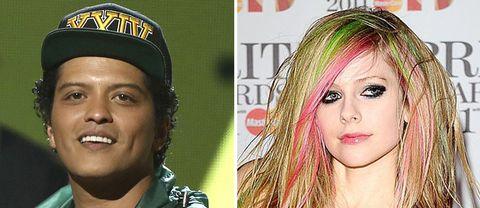 Bruno Mars och Avril Lavigne.