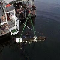 Den 300 kilo tunga galjonsfiguren bärgades för två år sedan.