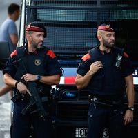 Spank polis i staden Cambrils