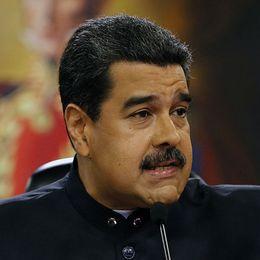 Venezuelas president Nicolás Maduro och Kanadas premiärminister Justin Trudeau.