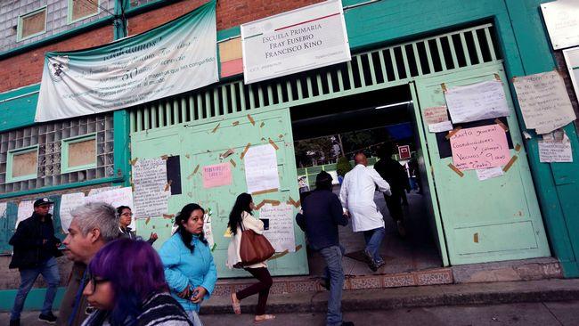 Jordskalv i ovadersdrabbade mexiko