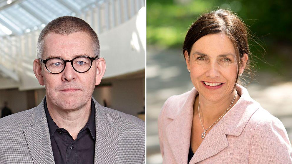 Hans Karlsson, direktör på avdelningen för vård och omsorg på SKL och Eva Domanders, ordförande i Bemanningsföretagen.
